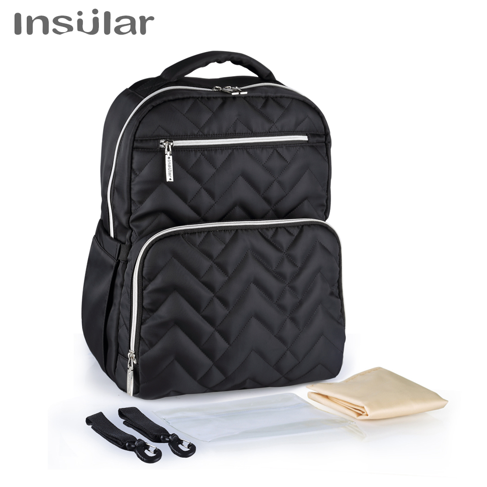 Insular Baby Bag Mummy Maternity Diaper Bag Large Capacity Baby Nappy Travel Backpack Designer Nursing Stroller Bag For Dad Mom diaper bag mummy maternity nappy bags large capacity baby travel backpack designer nursing bag baby care for dad and mom 894286
