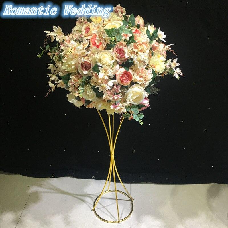 Métal or fleur Stand pour les mariages Table pièce maîtresse mariage décoration matériel fleur Vase or 10 pcs/lot pour livraison gratuite