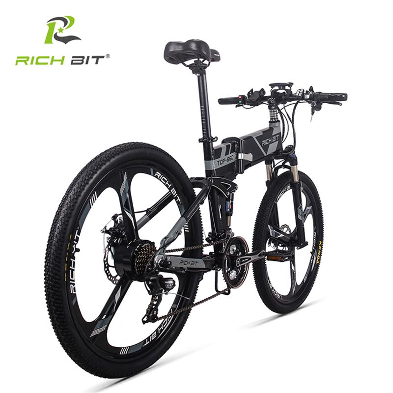 Image 2 - RichBit RT 860 36V*250W 12.8Ah Mountain Hybrid Electric Bicycle Cycling European  Quick deliveryFrame Inside Li on Battery Foldfolding ebikeelectric bicycle mountainelectric mountain -