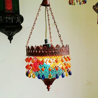 Cafe pendant light Bohemian Stained Glass Light Mosaic Features Creative Lighting Halal Style Decoration pendant light WL5051117