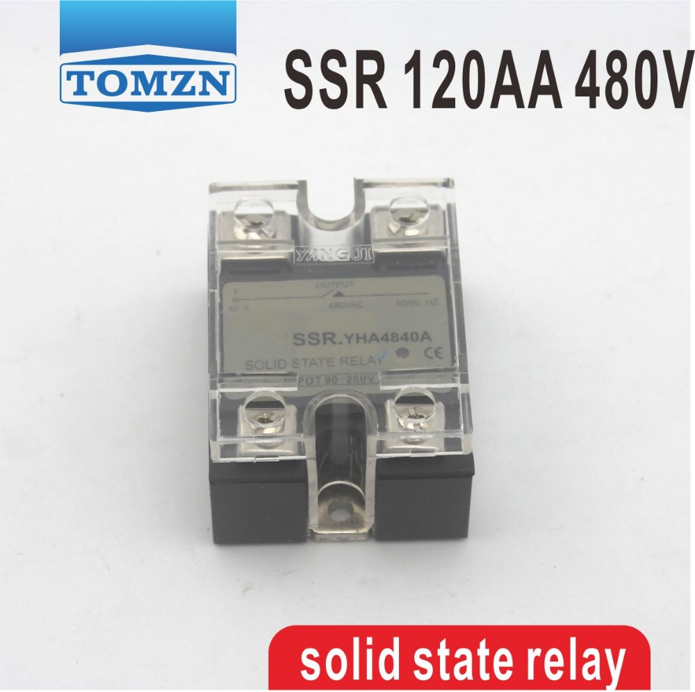 120AA SSR input 90-250V AC load 24-480V AC High voltage single phase AC solid state relay normally open single phase solid state relay ssr mgr 1 d48120 120a control dc ac 24 480v