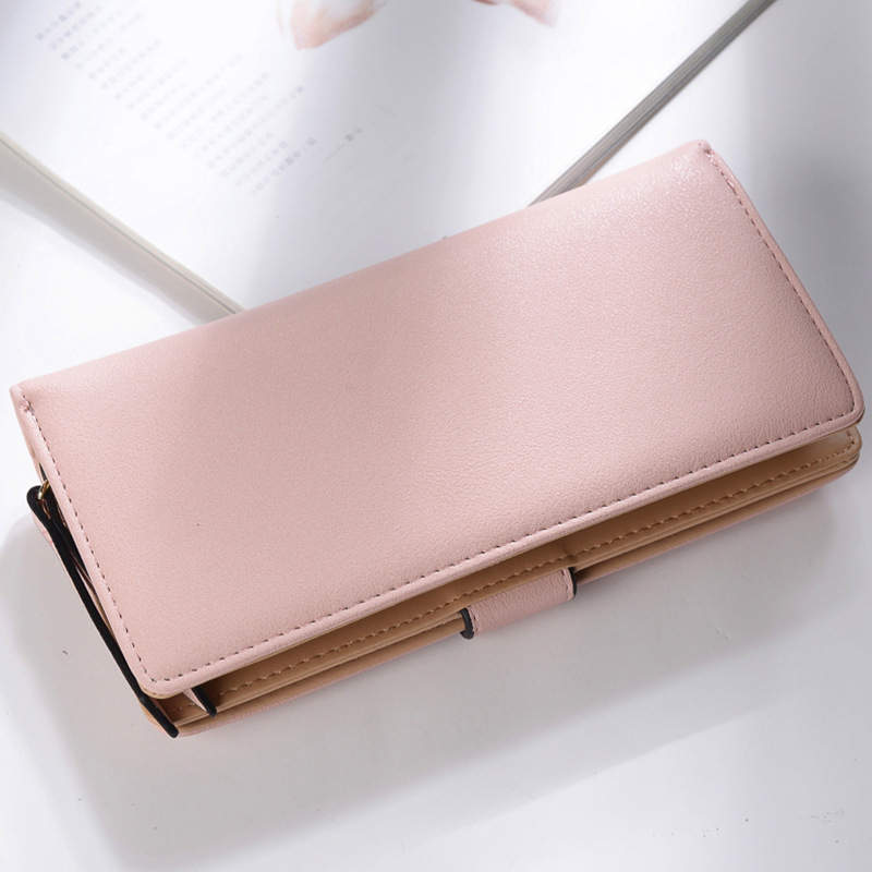 2018Women Wallet Leather Card Mynthållare Pengar Clip Långtelefon - Plånböcker - Foto 2
