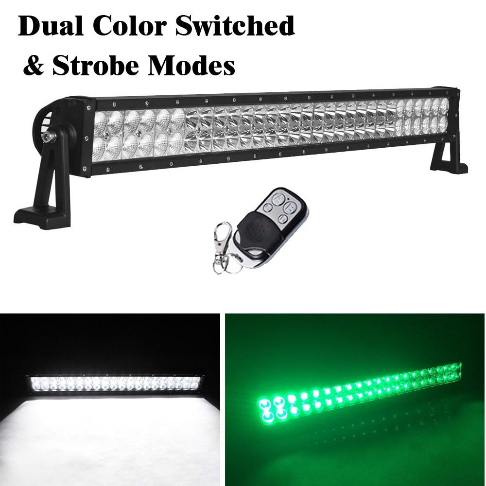 ჱ32inch 180W Led Work Light Bar Combo Beam Dual Color Switched ...