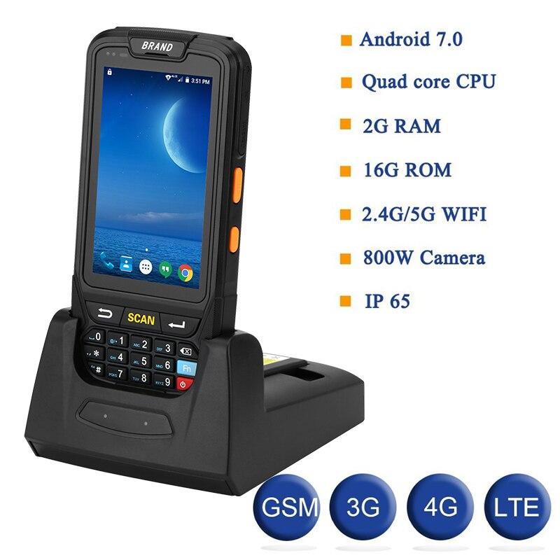 PDA Terminal 1D/2D Lecteur de Codes Barres Android 7 Collecteur de Données Wifi Bluetooth pour La Gestion Des Stocks Entrepôt Système