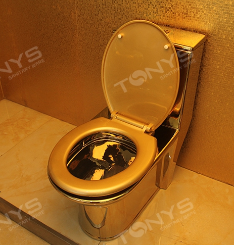 Siphon Household Hotel Gold Toilet Sanitary Ware Toilet Seat Toilet Water  Saving Pumping Toilet Gold Closestool