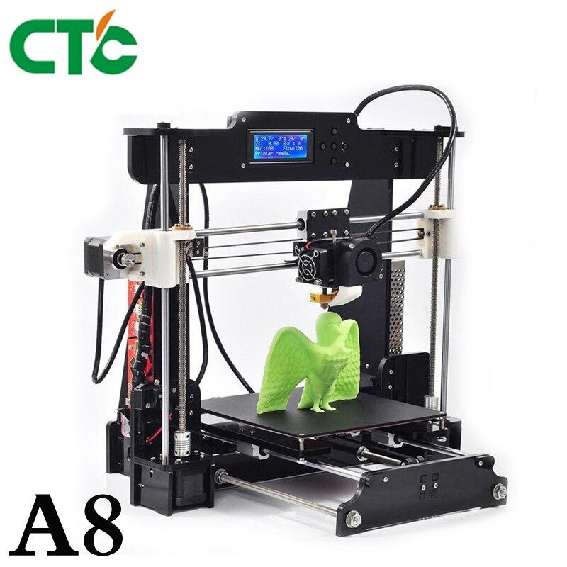 CTC A8 Impresora 3D Printer High Precision Imprimante 3D DIY Kit With Aluminium Extruder Hotbed Build Tools Filament