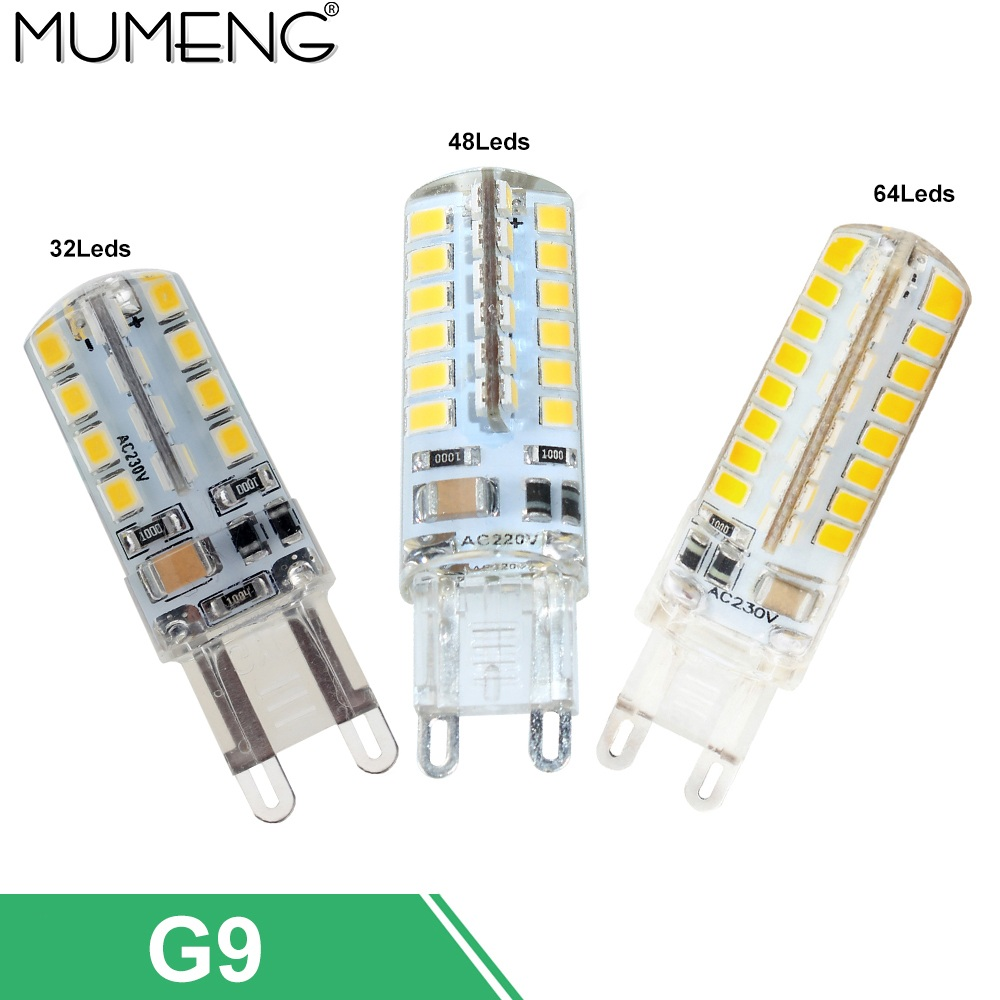 mumeng G9 LED Bulb 3w 4w 5w led Lamp 32 48 64pcs SMD2835 Ampoule led 220V Energy Saving Light for home chandelier 5/10X enwye e14 led candle energy crystal lamp saving lamp light bulb home lighting decoration led lamp 5w 7w 220v 230v 240v smd2835