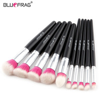 BLUEFRAG Brand New Cosmetic Tool 10pcs Professional Makeup Brush Set Highlight Beauty Kit Natural Foundation Powder