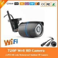 WiFi HD 1280 720P Bullet IP Network Camera 802 11b G N Wireless Surveillance FTPMotion