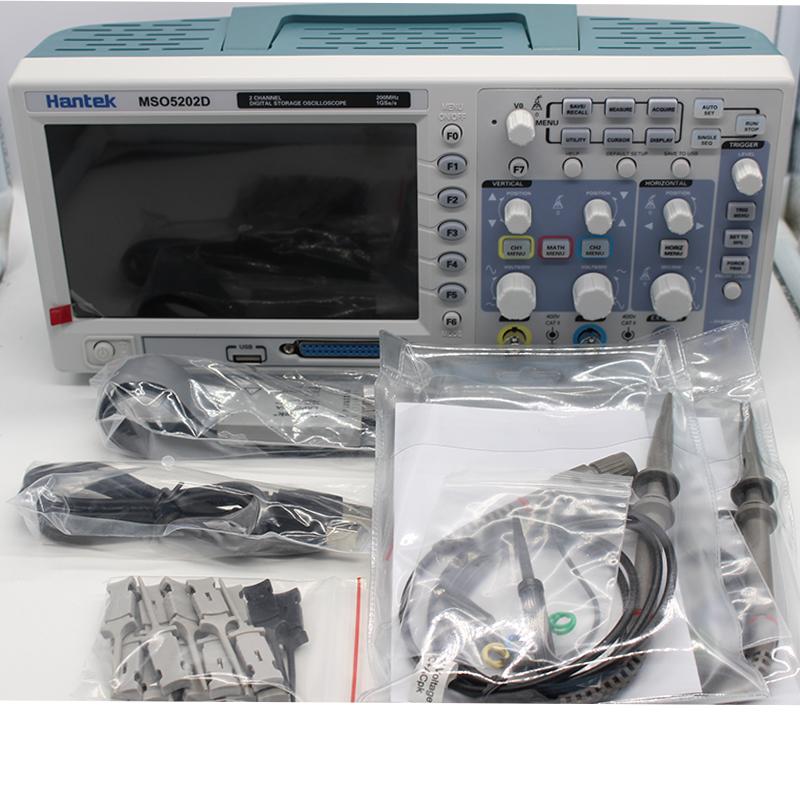 Hantek MSO5202D Digital Oscilloscope USB 200Mhz 2 Channels Hantek Osciloscopio +16Channels Logic Analyzer + External Trigger (3)