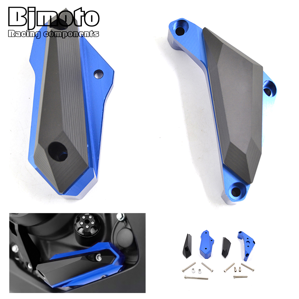 BJMOTO Motorcycle Engine Stator Cover Frame Slider Protector For Yamaha YZF R3 2015-2017,YZF R25 2013-2015,MT03 MT25 2015-2016 for yamaha yzf r25 yzf r25 2013 2015 yzf r3 yzf r3 2015 2016 motorcycle frame slider engine stator case guard cover protector