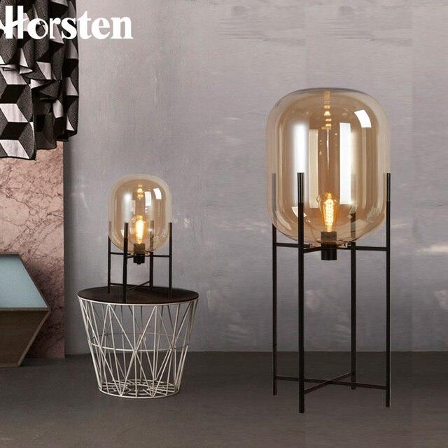 Nordic Post modern Simple Glass Floor Lamps Creative Standard Lamp ...