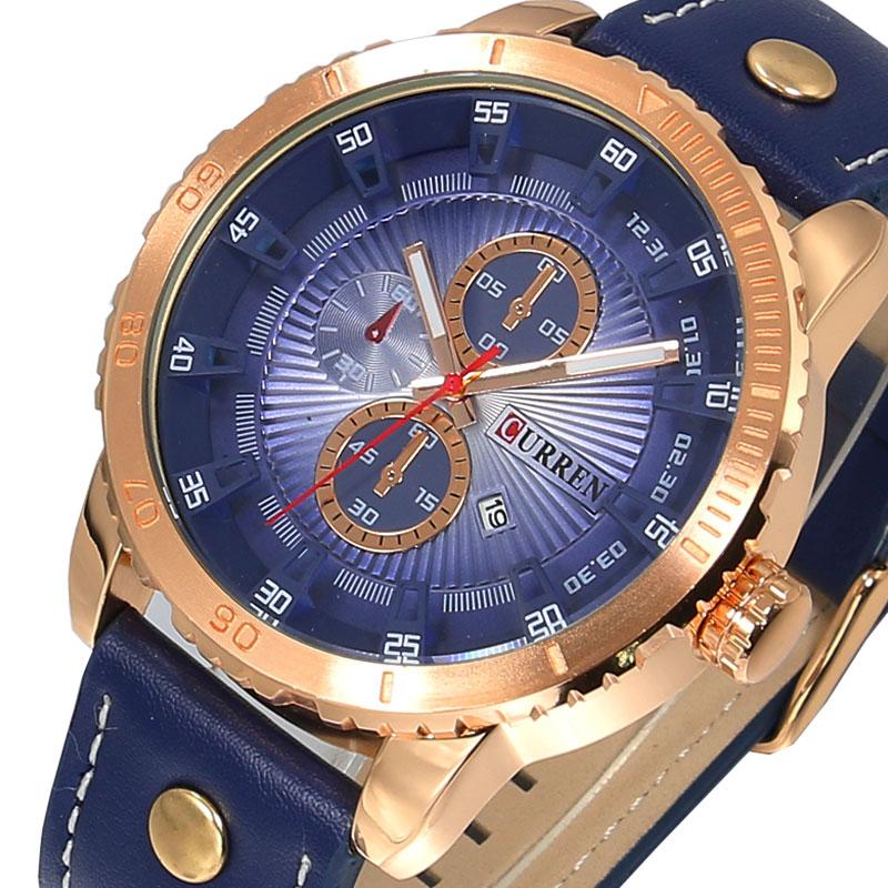 CURREN Mens Watches Business-Watch Top-Brand Casual Fashion Luxury Quartz Male Relogio Masculino