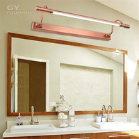 Novelty Lighting Vintage Red Bronze LED Front Mirror Light Bathroom Cabinet Dressing Table Kitchen Lamps Two