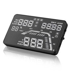 Image 4 - Heißer verkauf Universal 5,5 inch hud display auto Auto Tacho HUD GPS Tacho Überdrehzahl windschutzscheibe projektor HUD GEYIREN
