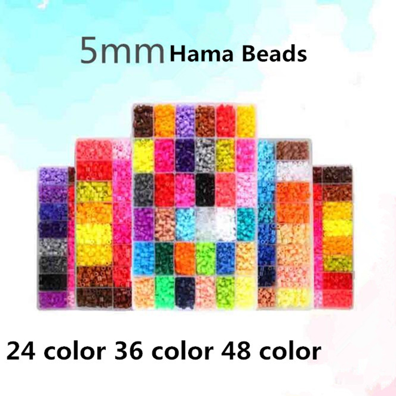 3000 Perle Hama Box Set Perler Beads Hama Beads 5 MM 24 Colors DIY Creative Puzzles Tangram Puzzle Baby Board Child Education