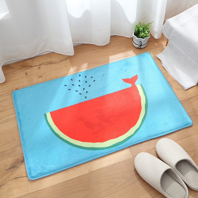 3D Print Watermelon Fruit Kids Bedroom soft Carpets Kitchen Carpet Rugs for Computer Chair Mat rugs carpets for home living room