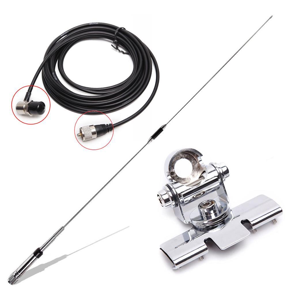 NL-770R NAGOYA Dual Band VHF/UHF 144/430 MHz 3.0/5.5 dBi de Alto Ganho Amador Rádio Do Carro móvel/Antena Da Estação SL16-J/M Masculino PL-259