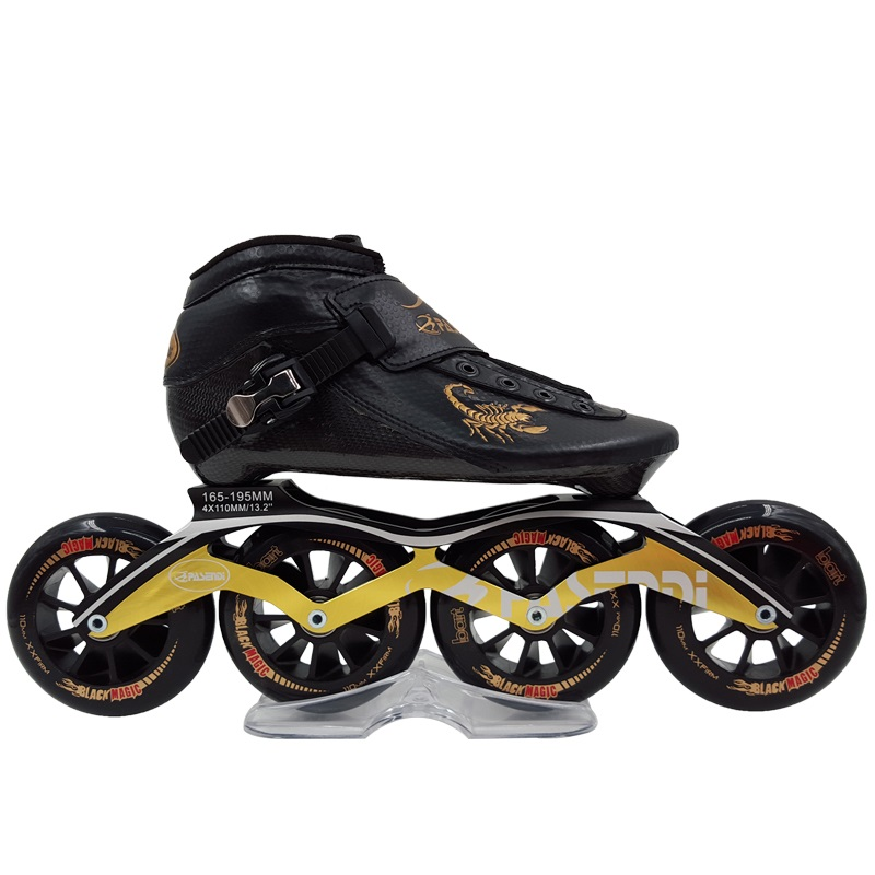 Professional New Speed Skate Shoes Adults/Kids Carbon Fiber Roller Skating Women/Men 4 Wheels Inline Skates Boots стоимость