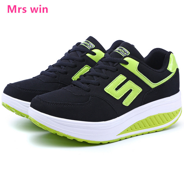new Spring sneakers summer women running shoes Mesh zapatillas hollow female sport shoes breathable high-heeled Walking shoes