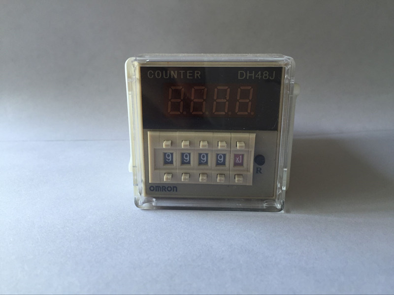 220VAC50/60Hz 97*48*48mm digital preset counter relay 1-999900 LED display 8 pin panel installed DH48J SPDT220VAC50/60Hz 97*48*48mm digital preset counter relay 1-999900 LED display 8 pin panel installed DH48J SPDT