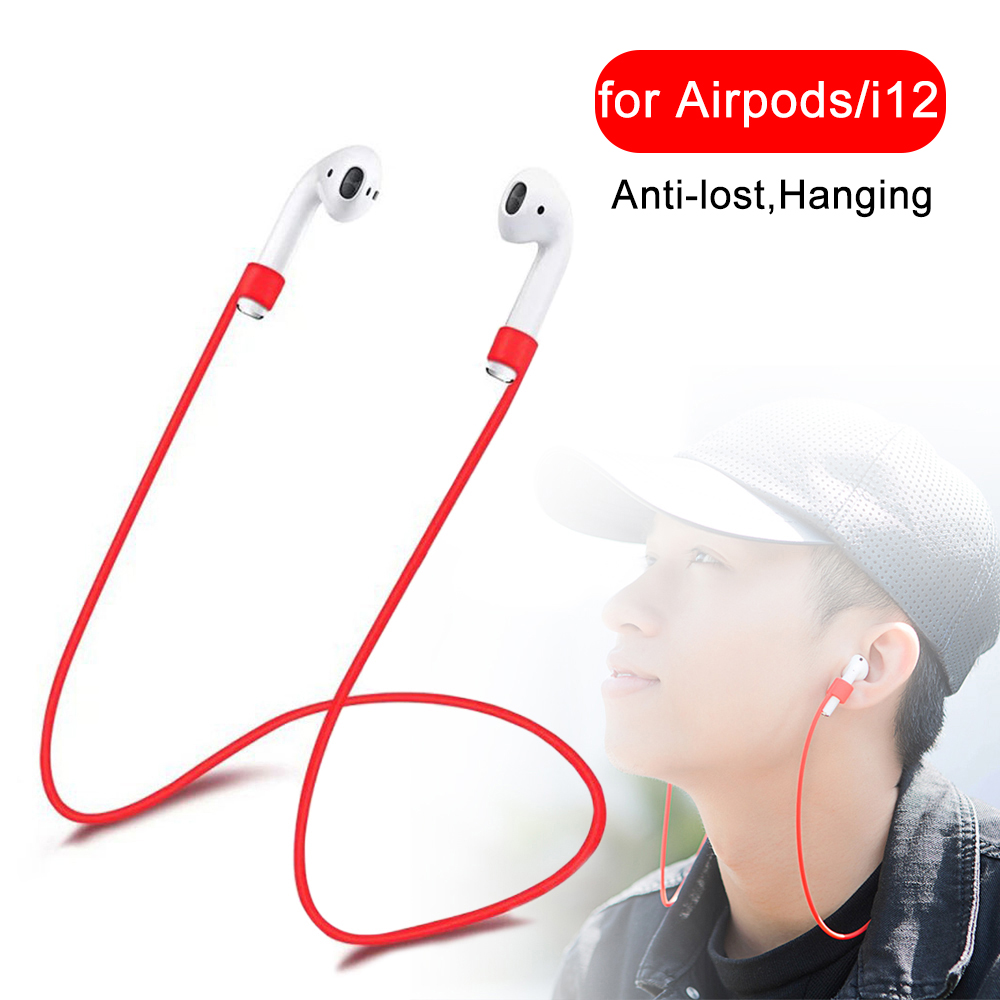 Anti lost Lanyard covers for Apple Airpods accessories <font><b>i9s</b></font> i10 i11 i12 i13 i19 <font><b>TWS</b></font> protector <font><b>Air</b></font> <font><b>pods</b></font> Case string Hanging Rope image