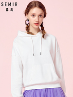 SEMIR Womens Hooded Sweatshirt Women Hoodie Sweatshirt Pullover Hoodie Brushed with Front Kangaroo Pocket and Drawstring Hood