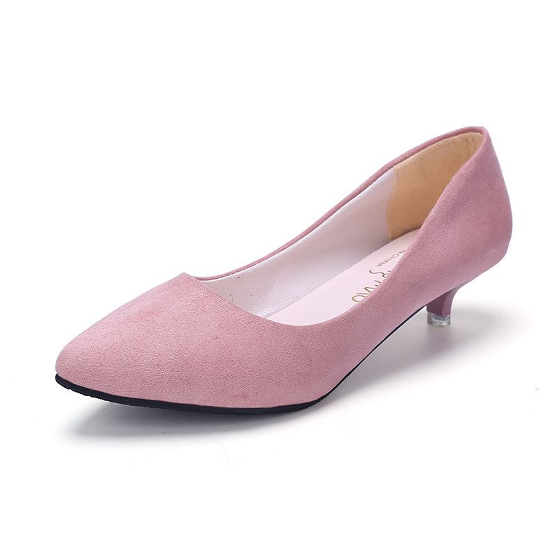 Women Pumps Spring Ladies Thin Heels Pointed Toe High End Simple Sxey Matte Shoes Women Casual Asakuchi Pumps Plus Size 35-40 plus size 34 49 new spring summer women wedges shoes pointed toe work shoes women pumps high heels ladies casual dress pumps