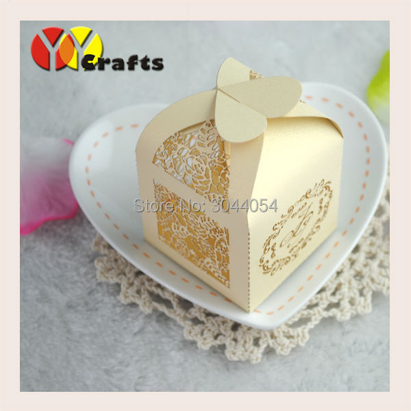 Wedding favor unique wedding gift box custom size and color 50pcs per lot candy packaging holder