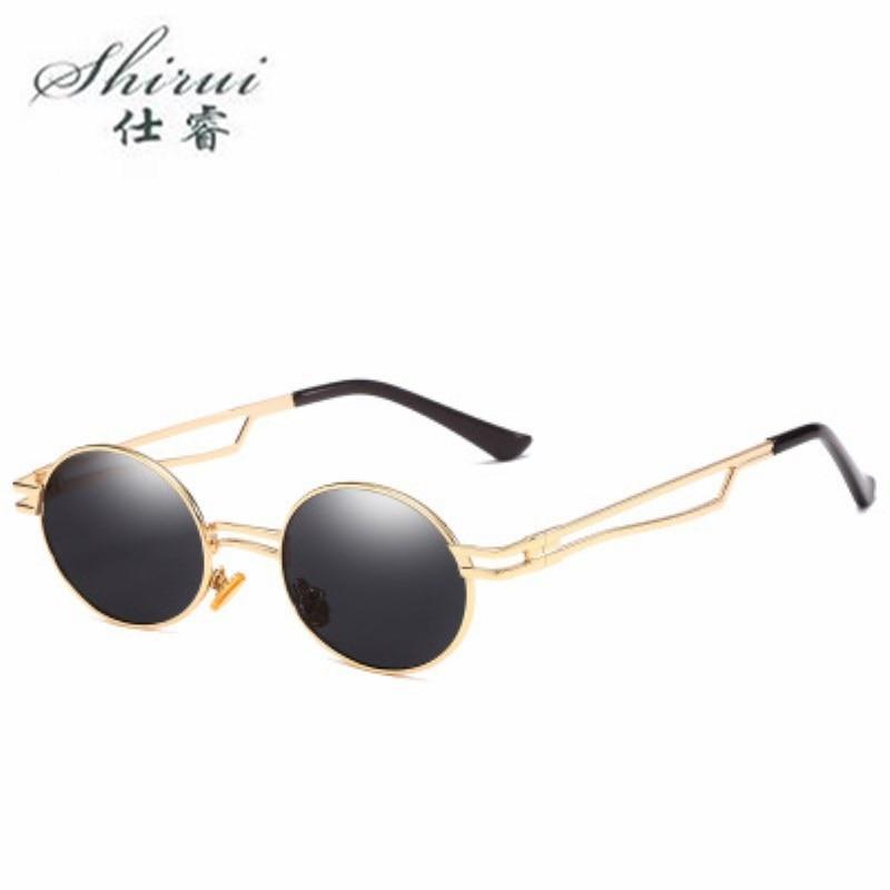 2019 Fashion Small ellipse Sunglasses Women Brand Designer Vintage Retro Sun glasses Female Fashion Sunglass UV400 Shades in Women 39 s Sunglasses from Apparel Accessories
