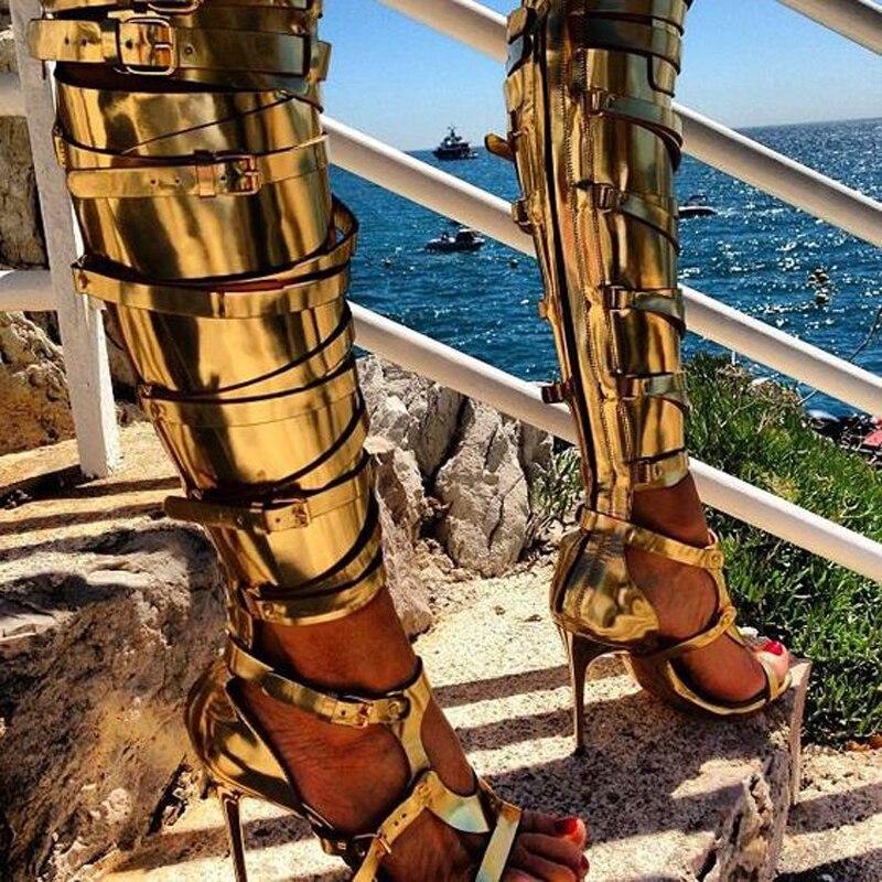 À Sexy Boucle black Or D'été En Évider Hauts De Sangle Sandales Femme Stiletto Pour Talons Ouvert Luxe Beige Bout Cuissardes Cuir Femmes Chaussures vv4BqPn