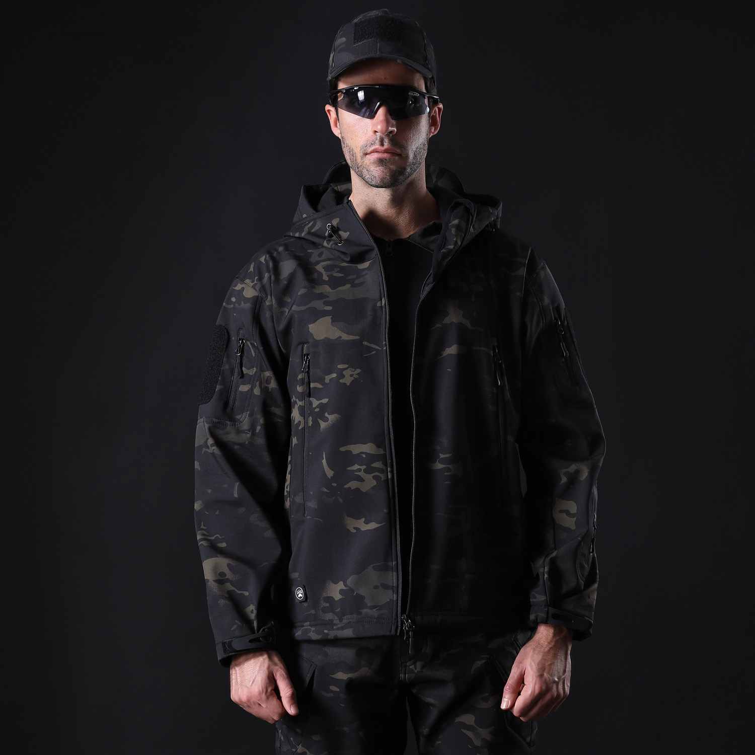 SJ-MAURIE Outdoor Men Military Tactical Hunting Jacket Waterproof Fleece Hunting Clothes Fishing Hiking Jacket Winter Coat New