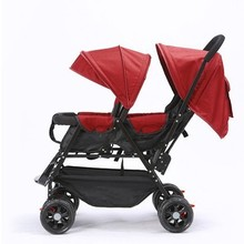 7,8 двойная детская коляска для близнецов Omni-направляющие колеса полулежащая коляска для малышей-близнецов детская двойная прогулочная коляска 360 градусов