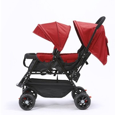 7.8 Double Baby Stroller For Twins Omni-directional Wheels Half Lying Twin Baby Stroller Baby Double Jogging Stroller 360 Degree