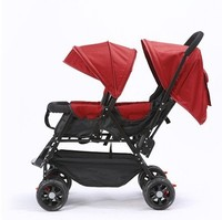 7.8 Double Baby Stroller For Twins Omni directional Wheels Half Lying Twin Baby Stroller Baby Double Jogging Stroller 360 Degree