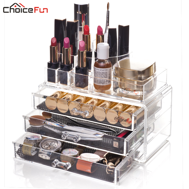 CHOICEFUN Fancy Plastičen Stackable Divider Desk Make Up Storage Box - Organizacija doma