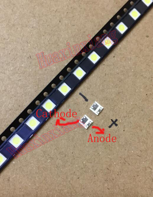 50PCS/Lot 1W 3535 3v SMD LED Beads Cold white 90Lm High power for LCD/TV Backlight 100pcs lot 3528 2835 3v smd led beads 1w cold white 100lm for tv lcd backlight