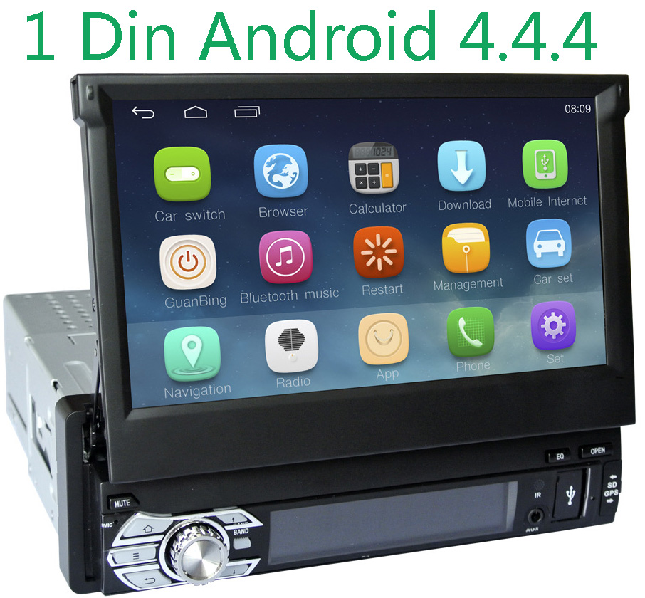 "Universal 1Din 7"" Detachable Car Audio DVD Player GPS Navigation Stereo Car Central Multimedia Radio Bluetooth"