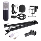 Professional Condenser Microphone for computer Audio Studio Vocal Recording Mic KTV Karaoke Microphone stand Set