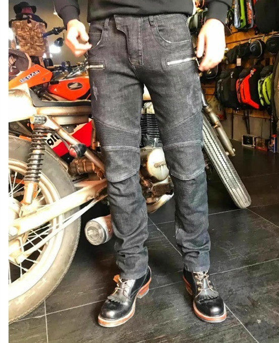 Keep warm in winter Motorcycle Pants Men Moto Jeans Protective Gear Riding Touring Motorbike Trousers Motocross Pants Pantalon