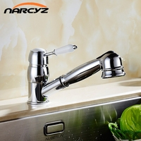 Electroplating Classic Kitchen Faucet Hot And Cold Wash Basin Faucet European Style Pull Faucet XT 5