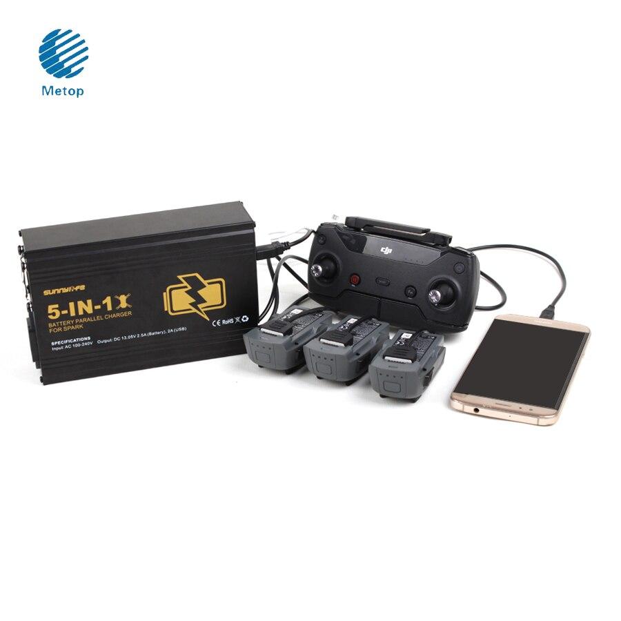 SunnyLife 5 в 1 Батарея параллельно Зарядное устройство пульта дистанционного управления multi Зарядное устройство Dual <font><b>USB</b></font> Зарядное устройство для DJI&#8230;