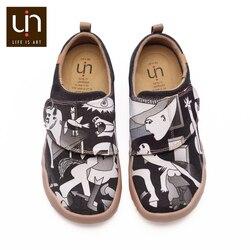 Zapatriace & Pedro Design ręcznie malowane płaskie buty na co dzień dla dzieci Hook & Loop wygodne buty na płaskiej podeszwie chłopcy/dziewczęta odkryte trampki dla dziecka