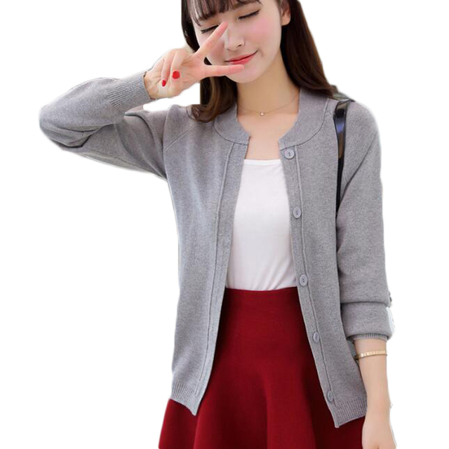 Women Autumn Brife Crochet Solid Button Cardigan Fashion Knitted Cardigans  Ladies Knitwear Outfit Tops 3e90e5b77