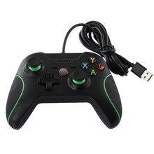 Новые Проводной USB игровые контроллеры для Xbox One ПК USB проводной игровой контроллер геймпад для Xbox One с двойной вибрации