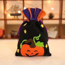 New Fashion Halloween Tote Bag Children's Festival Candy Bag Witch Pumpkin Drawstring Bag Party Dress Up Props(China)