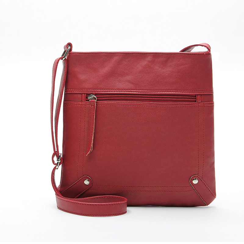 Women Cross Body Bags 2018 New Shoulderbag Men  Messenger Bag Handbag PU Leather Solid Color Satchel 4 Color 2