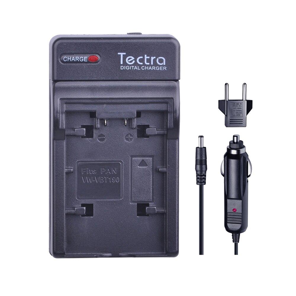 Tectra cargador para Panasonic VW-VBK360 y Panasonic HC-V10, HC-V100, HC-V100M, HC-V500, HC-V500M, HC-V700, HC-V700M, HDC-HS60