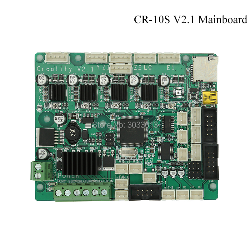 все цены на Newest Official Upgrade CR-10S V2.1 Mainboard/Motherboard For CREALITY 3D CR-10S 3D Printer part Original Supply Control Broad