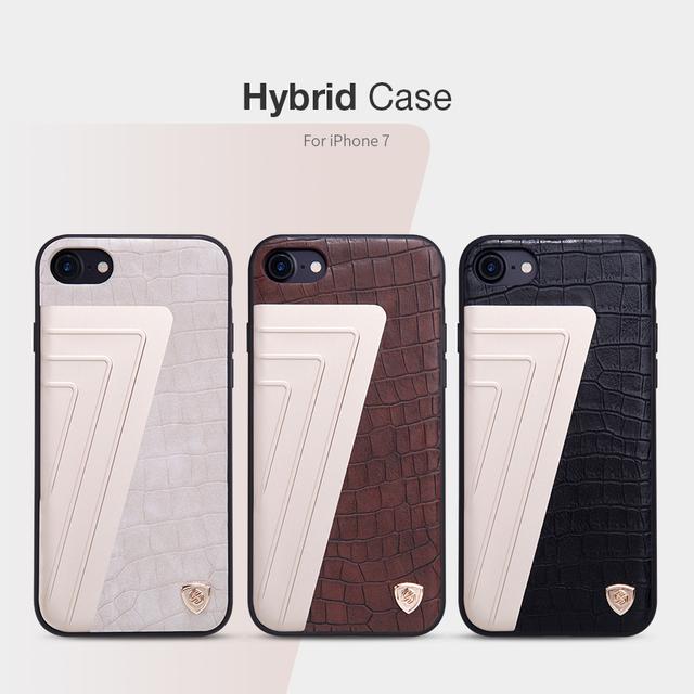 "Caso nillkin original para iphone 7 híbrido pc tpu de alta qualidade tampa traseira para iphone7 4.7 ""caso capa protetora de couro de luxo"